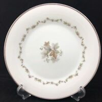 Noritake Woodley Dinner Plate White Porcelain China Japan 6783