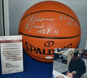 ARTIS GILMORE SIGNED SPALDING OFFICIAL FULL SIZE NBA BASKETBALL HOF 2011 JSA