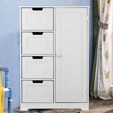 Simple And Stylish Bathroom Floor Cabinet With 4 Drawers D7E8