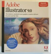 Adobe Illustrator 9.0 software Upgrade for Mac complete retail package unopened
