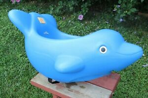Vintage Step 2 Dolphin Child SWING Blue Outdoor Play ~~ No Ropes