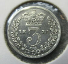 Great Britain 1835 William IV  Threepence 3d Silver  Coin better detail