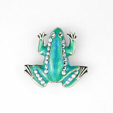 Crystal Enamel Silver Plated Costume Brooches & Pins