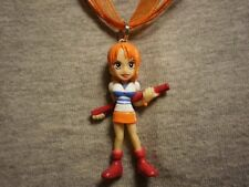 One Piece Nami Figure Charm Necklace Collectible Novelty Anime Jewelry