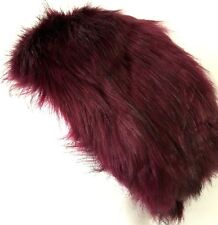 609870d8d93 Burgundy Faux Fur Headband Head Warmer Ladies Red Winter Ski Hat Head Band  New