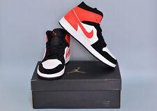 Nike Air Jordan 1 Mid Shattered Backboard Black White Orange 554724 058 Sz 10
