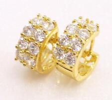 fashion1uk De mujer 14K Chapado En Oro Transparente Brillante Diamante Sintético