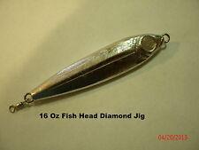 16 oz Fish Style Diamond  Jig  Lure (Unplated)