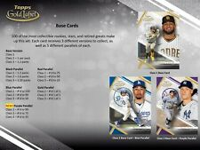 2021 Topps Gold Label Baseball - Pick Your Card