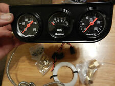 black volts oil pressure and water temp gauges with bracket &senders new