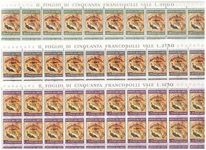 S25464) Vatikan MNH 1967 Christmas 3v Blätter Folded - Gebogen
