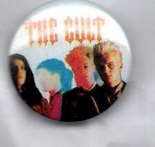 THE CULT - RARE BUTTON BADGE - BRITISH HARD ROCK BAND- GOTH -SHE SELLS SANCTUARY
