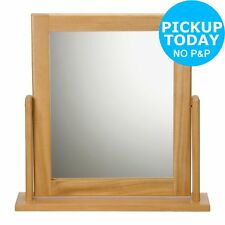 Argos Home Square Dressing Table Mirror - Oak Effect