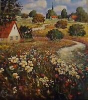 Mark Braver-Stunning Original Oil Painting on Stretched Canvas Signed With COA.