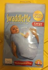 SwaddleMe Adjustable Infant Wrap Micro Fleece Lg Blue 22 Lb, Nib Ship From Store