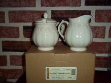 Longaberger Sugar Bowl & Creamer Set - Cream Vintage Vine- New