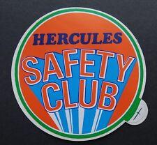 Aufkleber HERCULES SAFETY CLUB Fahrrad Mofa Moped 70er Jahre Oldtimer Sticker