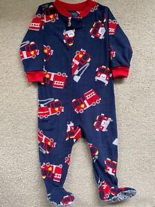 Carter's Baby Boy Fleece All In One / Sleepsuit Size 9-12 Months
