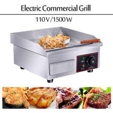 14 Stainless Steel Electric Countertop Griddle Flat Top Restaurant Grills Bbq