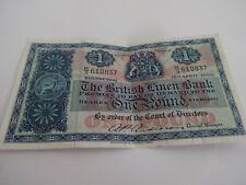 1 x 1960 british linen bank £1 bank note m/3 610837