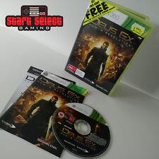 Deus Ex: Human Revolution Xbox 360 Game PAL CIB Like New Aus Seller + FREE POST