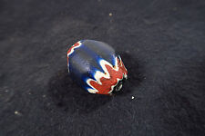 Große antike Chevron Glasperle 33mm 7L Antique Star bead Venetian Trade bead