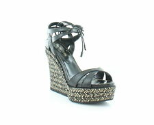 Sergio Rossi New Bilbao Black Womens Shoes Size 8.5 M Sandals MSRP $875