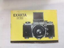 IHAGEE Kamera Bedienungsanleitung EXAKTA VX 500 User Manual English