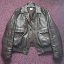 Armani Collezioni brown leather jacket 40-42 regular