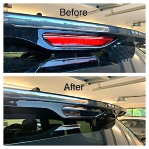 Fits Jeep Grand Cherokee Rear Top Stop Light - Black Out Tint Die Cut Kit 2011 +
