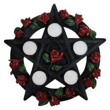 Pentagram Rose Tealight Holder / Wicca / Nemesis Now / Witchcraft / T-Lite