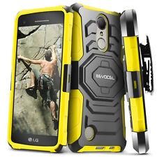 LG K20 Plus Case, Evocel Dual Layer Holster Case with Kickstand & Belt Clip