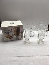 New 8 oz Libbey Milan Irish Coffee Glass Mugs Set of 4
