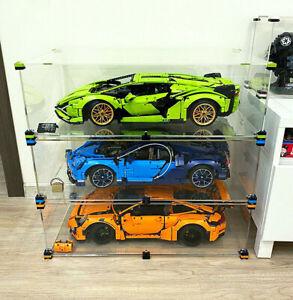 OLEGABOX THREE Cases LOT for Lego Bugatti, Porsche 911 GT3, Lamborghini Sián
