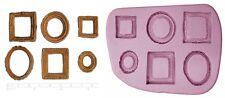 FRAME FRAMES Mini Craft Sugarcraft Dolls House Silicone Rubber Mould