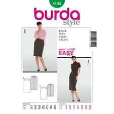 Burda Sewing Pattern 8155 Misses Ladies Pencil Skirt Size 8-20 Uncut