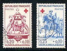 TIMBRE FRANCE OBL. N° 1278/1279  COTE 8 € CROIX ROUGE photo non contractuelle