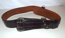 "BROWN LEATHER BRITISH ARMY OFFICERS SAM BROWNE BELT - Waist: 44"" , Size: 6"