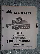 Midland 77-005 5001 service manual original repair book cb radio transceiver!