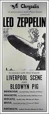 Led Zeppelin 1969 British Tour Poster Interesting Reprint Chrysalis Peter Grant