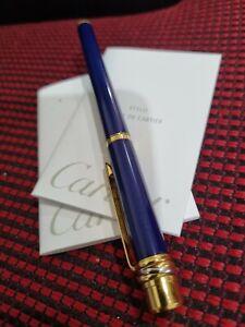 Cartier Fountain Blue Pen stylo plume must vintage (2012)