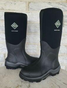 Muck Arctic Sport Tall Mens Size 8 Womens 9 Waterproof Work Boots Black ASP-000A