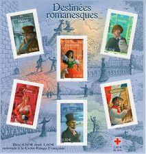 BLOC 2003 TIMBRES LES DESTINÉES ROMANESQUES CROIX ROUGE NEUF