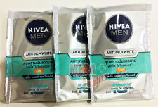 3 x NIVEA Men 10x Anti Oil Control Whitening UV Protection Serum Moisturizer 8ml