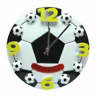 Football Wall Clock Mute Digital Watch Home Living Room Kids Boys Bedroom Clocks