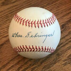 Charles Gehringer signed ONL baseball Tigers, HOF, MVP - JSA Authentication