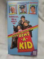 Rent-A-Kid (VHS,1995)(OOP) OutOfPrint SCREENER Leslie Nielsen, Christopher Lloyd