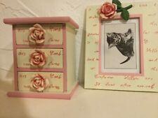 Small box witih draws and matching photo frame