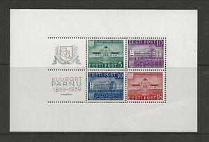 ESTONIA Sc 147a NH issue of 1939 - SOUVENIR SHEET