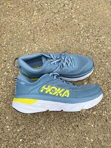 Hoka One One Bondi 7 Men's Size US 8.5 Provincial Blue/citrus Running Shoe